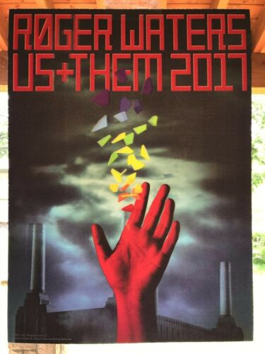 ROGER WATERS PINK FLOYD US & THEM 2017 LIMITED ED LENTICULAR TOUR CONCERT POSTER