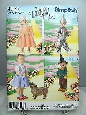 Dorthy Tin Man Scarecrow Glinda Wizard Of Oz PATTERN Simplicity 4024 1/2 1 2 3 4 (Dorthy Costume)