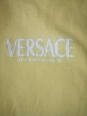 Versace Authentic Long Sleeved Top Cotton Yellow Y2k 00s