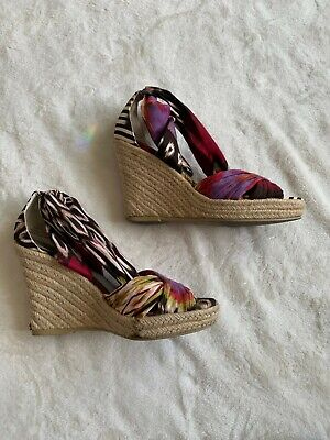IMPO Women's Tribal Print Strappy Ankle Tie Sandals Size 6.5