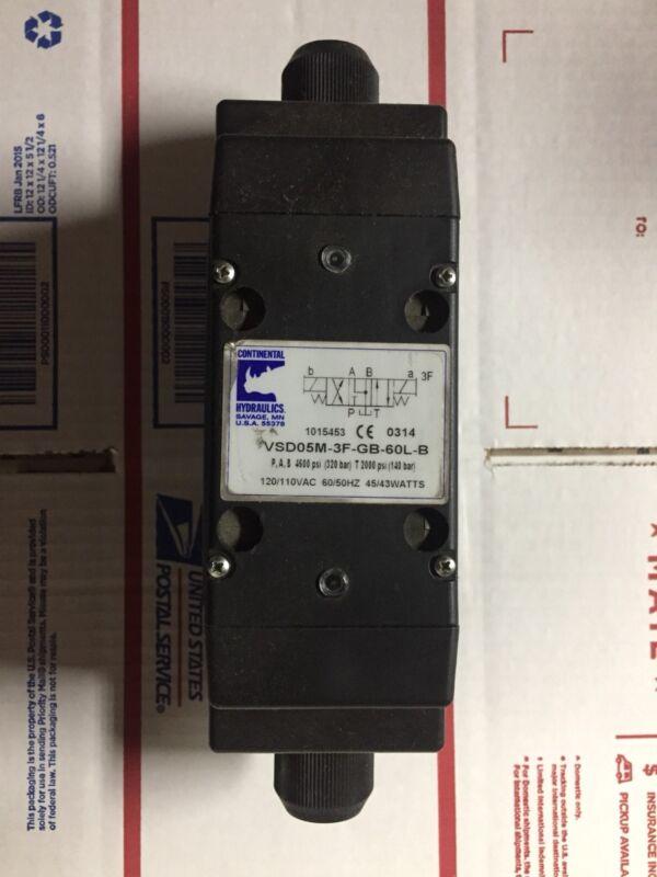 CONTINENTAL HYDRAULICS VSD05M-3F-GB-60L-B SOLENOID VALVE 120V