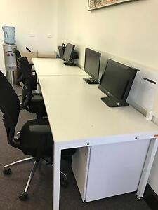 4 Person Office Work Station w/ 4 Chairs (RRP $6k) Woolloomooloo Inner Sydney Preview