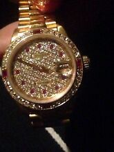 18ct gold diamond ruby ROLEX WITH PAPERS Bethania Logan Area Preview