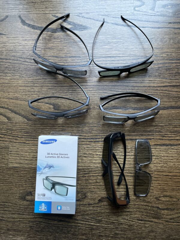 4 Used Genuine Samsung 3D Active Glasses Accessory for Smart TV