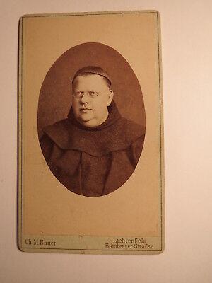 Lichtenfels - Mönch mit Brille in Kutte - Mönchskutte - Geistlicher / CDV