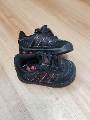Kids Black Adidas Trainers Size UK 3Y for sale  Leyland
