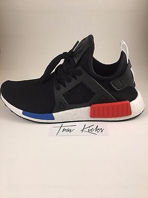 Adidas Men NMD XR1 Primeknit PK OG Black Blue Red - BY1909 - Size 8.5