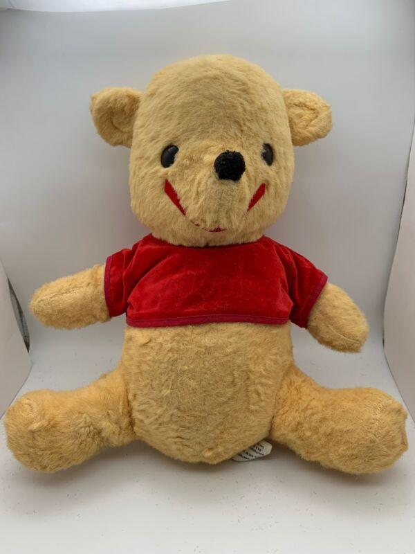 Walt Disney Productions Winnie The Pooh Plush Stuffed Animal Vintage Toy