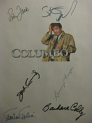 Columbo Signed TV Script X6 Murder By Book Peter Falk Steven Spielberg Milner rp