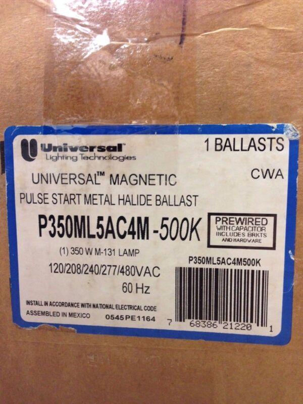 UNIVERSAL P350ML5AC4M-500K  350W MAGNETIC 120-480V PULSE START HID BALLAST 5-TAP