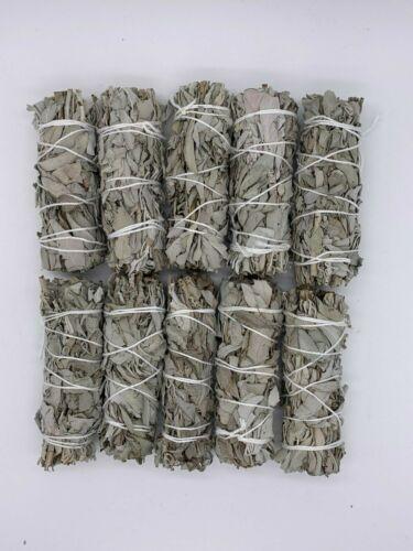 "10X California White Sage Smudge Sticks / Wands 4 - 5 "" Negativity Removal"