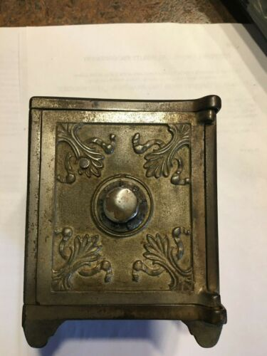 MOON AND STARS CAST IRON BANK/SAFE