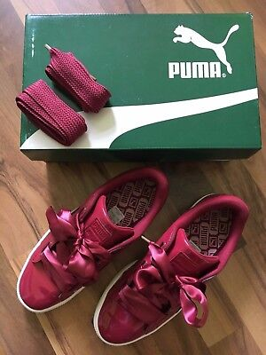 Sneaker Puma Schuhe Wmns Basket Heart Patent Tibetan Red Gr. 40 US 9 wie neu Red Patent Schuhe