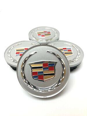 OEM Cadillac ATS CTS SRX DTS XTS Silver Center Wheel Hub Caps Set 9597375 66MM