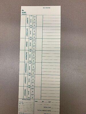 Amano Ama5401 Time Cards Case 1000