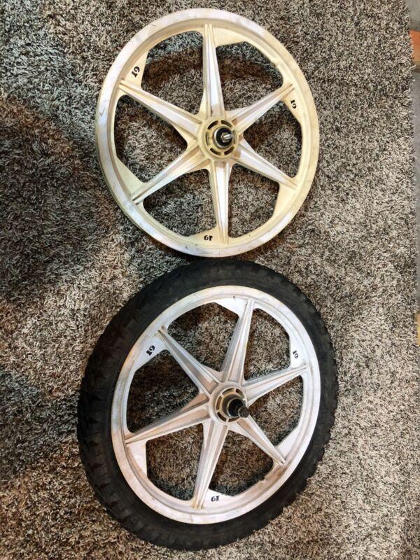 """GT Tomahawk Mag Wheels Old School BMX Dyno 6 Spoke 20"""" Tuff"""
