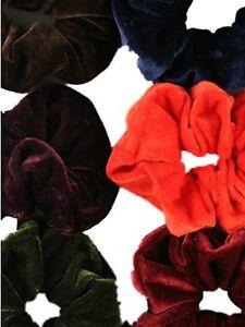 Coloured-Velvet-Feel-Hair-Scrunchie-Bobble-Hair-Band-Elastic-Hair-Accessories