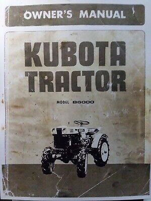 Kubota B6000 Diesel 4x4 2wd Farm Tractor Owner Operator Parts Manual