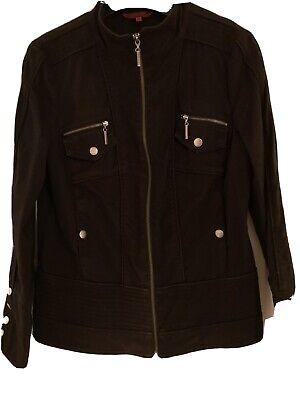 John By John Richmond Black Biker Style Jacket - Size 14