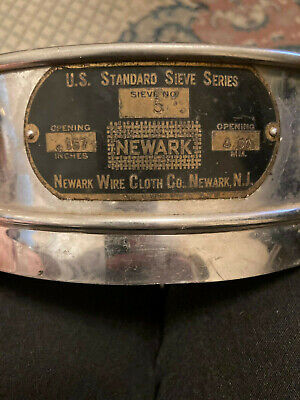 8 U. S. A. Standard Testing Sieve 5 4mm.157 Opening