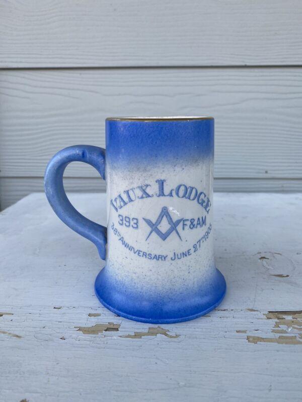Antique 1905 Vaux Lodge 383 Mug Stein Tankard