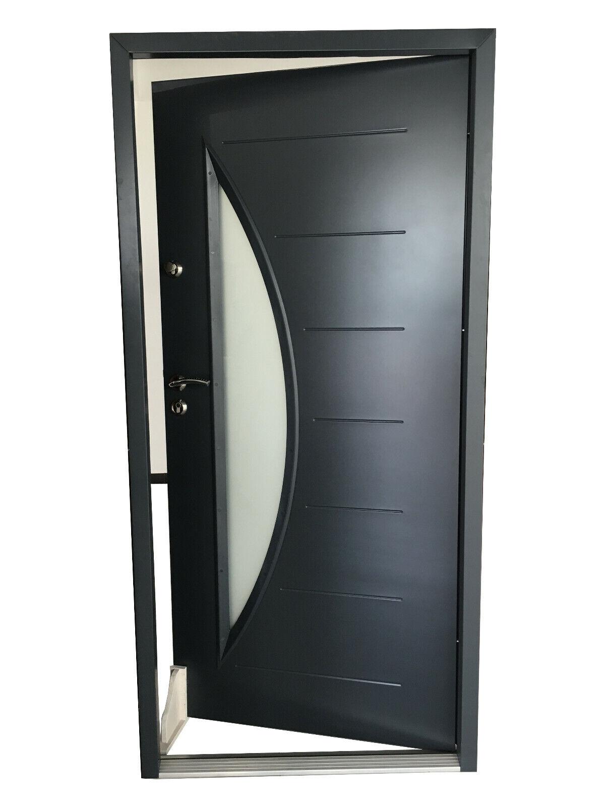 Haustür Eingangstür  Wohnungstür Hauseingangstür 1000x2095mm Anthrazit #FDS29