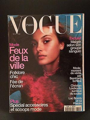 french magazine VOGUE PARIS N°791 mode christian louboutin october 1998