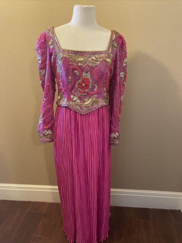 Richilene New York Heavily Beaded Evening Gown