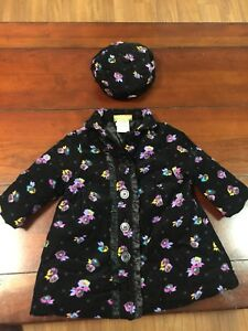 Girls Dress Coat with Hat