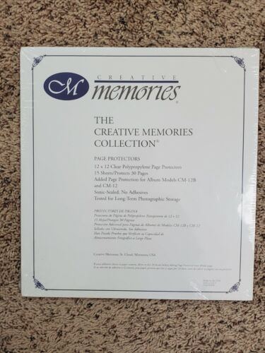 NEW CREATIVE MEMORIES 12 X 12 PAGE PROTECTORS OLD STYLE  15 sheets