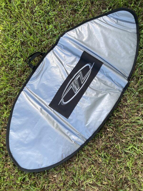 """Silver Reflective Backpack Skimboard Bag 50"""""""
