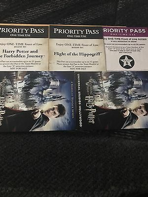8 Universal Studios Hollywood Front Of The Line Priority Passes Harry Potter