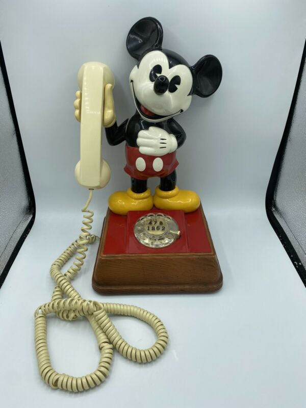 Vintage Mickey Mouse Rotary Telephone Walt Disney