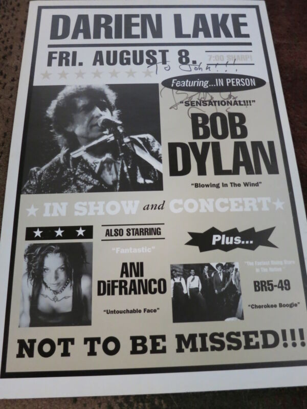 BOB DYLAN SIGNED POSTER WITH ROGER EPPERSON COA & ACOA! RAREST OF THE RARE!!!
