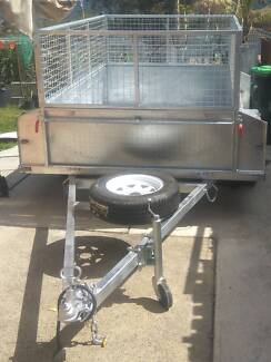 7X5 HIGH SIDES FULLY WELDED HOT DIP TRAILER FREE REGO
