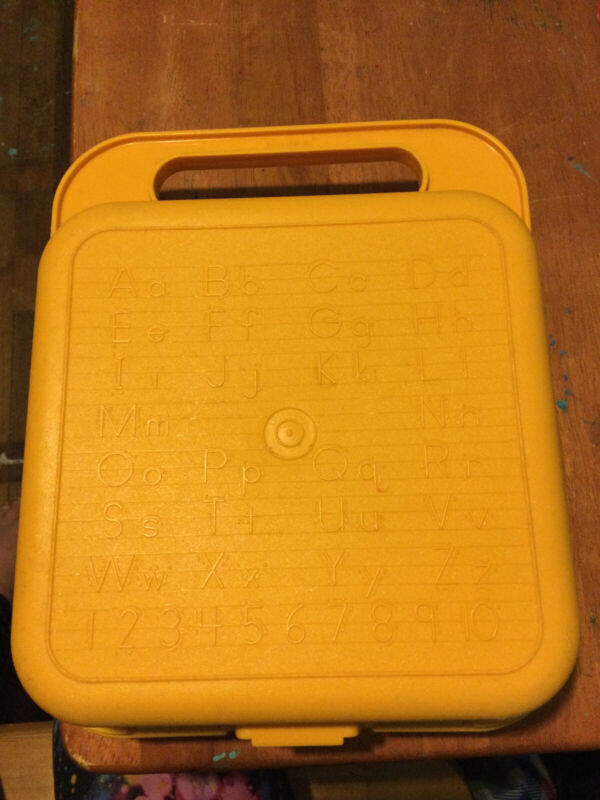 TUPPERWARE ABCs & 123s STENCIL CASE - LUNCH BOX only- ALPHABET PENCIL CARRY BOX