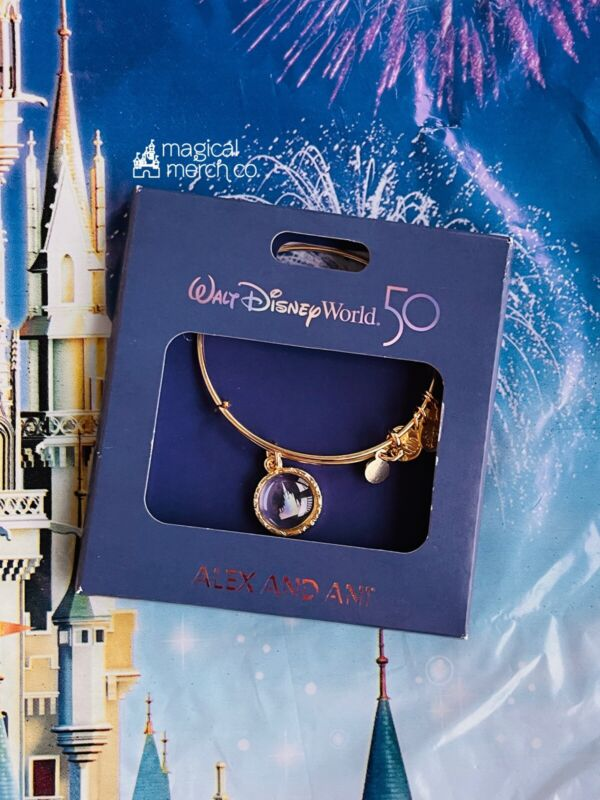 2021 Disney World Parks Exclusive Alex & Ani Bracelet 50th Castle Brand New