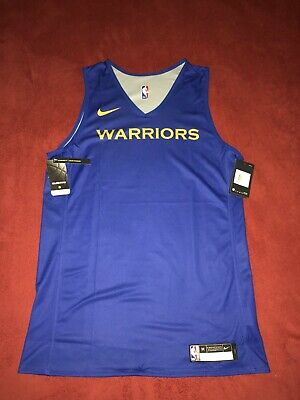 Nike Golden State Warriors Practice Jersey NBA Reversible AJ4731-495 Medium Tall