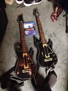 PS4 guitar hero with 2 guitars