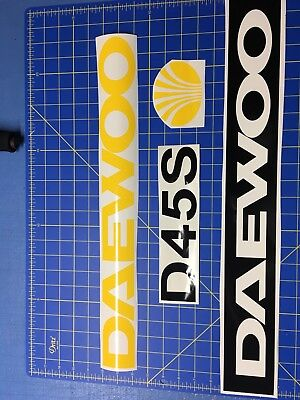 Set Of Daewoo D45s Forklift Decal Stickers