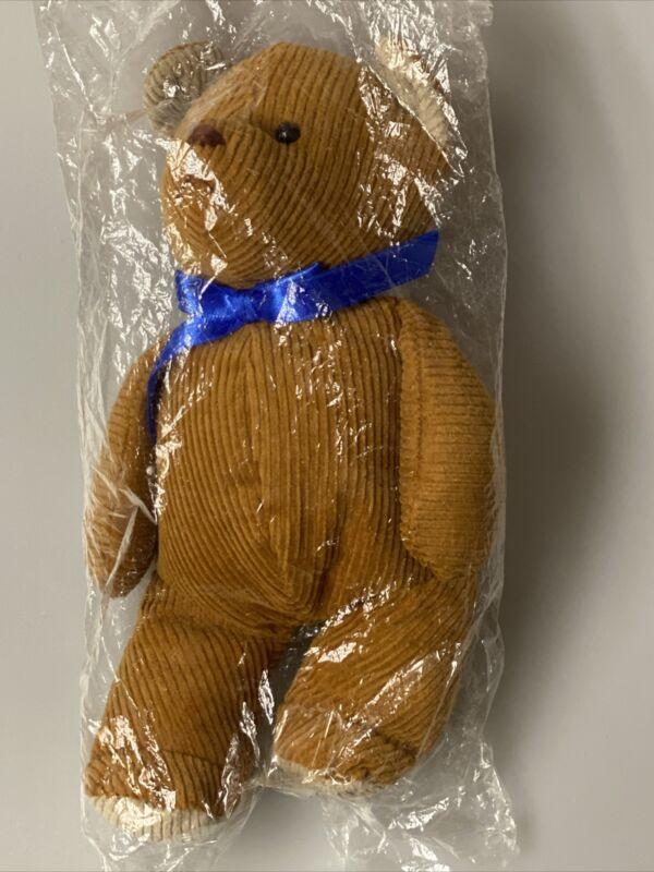 10 Inch Plush Brown Corduroy Bear-Naito Design  - Teddy - RETIRED - SEALED NEW