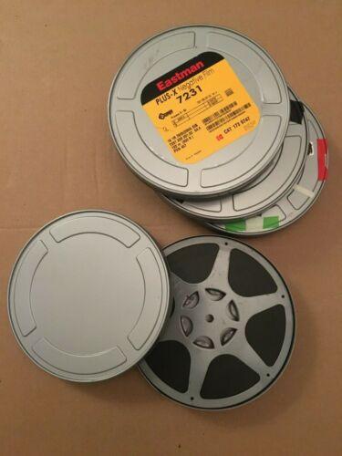 "Lot of 4 Kodak 7.1 ""X1.1"" Metal 16MM Silver Film 400ft Original Cans, Move, Tins"