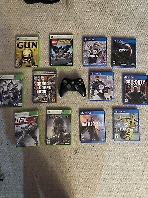 Huge Ps4 & Xbox 360 13 Game Lot With Xbox 360 Controller!