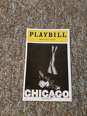 CHICAGO PLAYBILL JANUARY 2009 NEW YORK