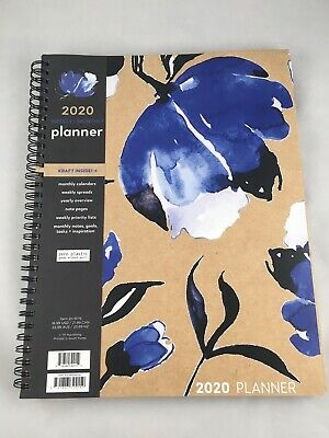 TF Publishing 2020 Planner Weekly/Monthly Kraft Blue Floral