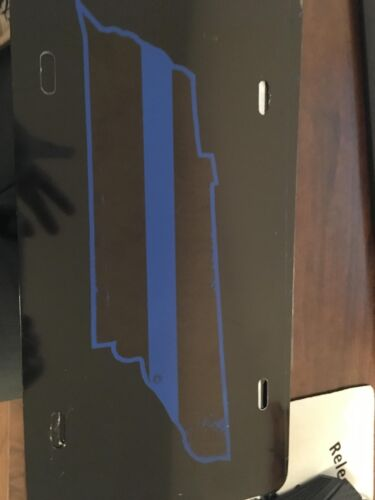 TENNESSEE  BLUE LINE LICENSE PLATE, REFLECTIVE