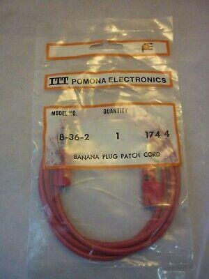 Itt Pomona Banana Plug Patch Cord B-36-2 Red Stackable