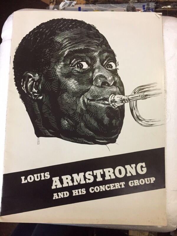 1940's Louis Armstrong and His Concert Group Souvenir Concert Program & 2 Stubs