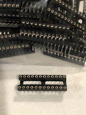 10pcs Lot 24 Pin 2.54 Round Machined Dip Ic Adapter Socket Fits Arduino Pi Pcbs