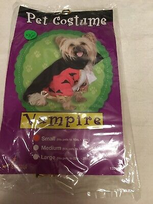 Dog Pet Costume-Vampire Size Small New - Vampire Costumes For Dogs